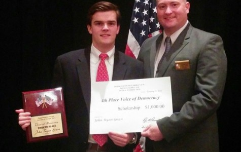 John Gnan '15 comes in 4th place in VFW Voice of Democracy Contest