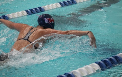 Girls swimming head to New Englands