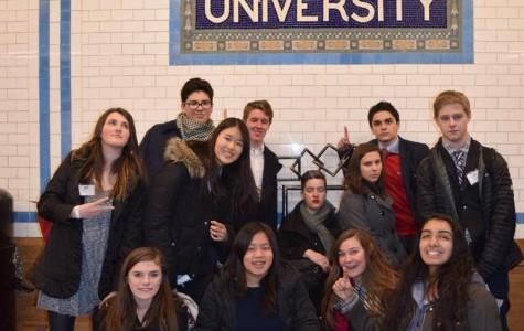 Model UN Team Visits Columbia