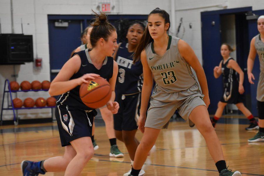Girls basketball battles Miss Porter's