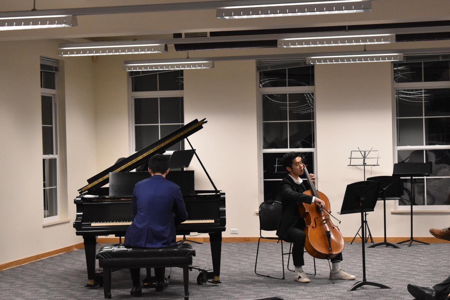 Hyung Joo Ahn '19 and Steven Sui '21 perform a duet