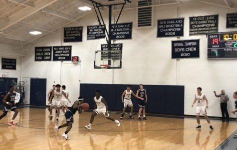 Boys basketball battles Hotchkiss