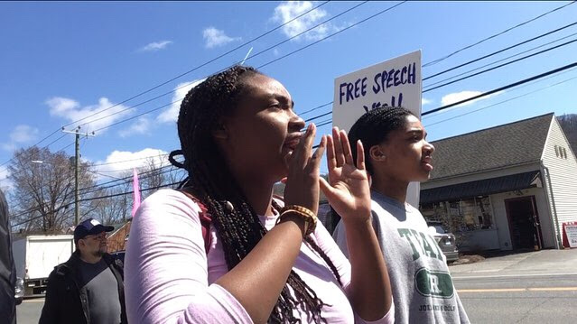 Students Rally Against Anti-Muslim Hate Group