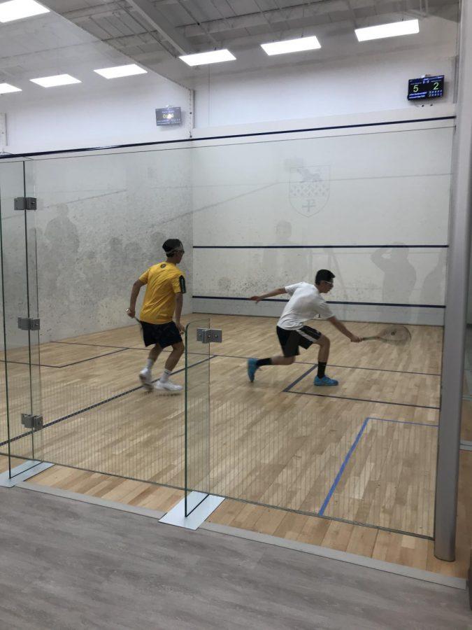 Kent Boys Varsity Squash Sweeps Trinity-Pawling