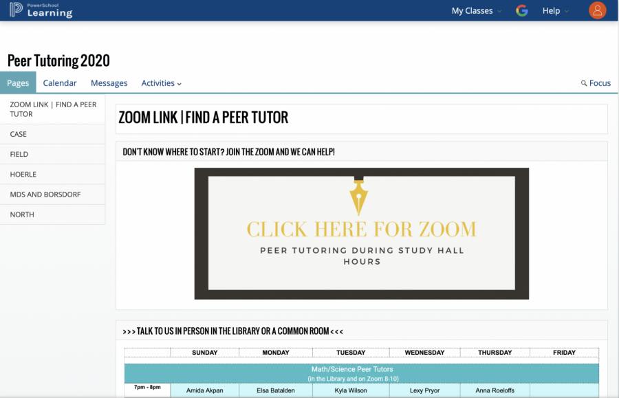 Peer Tutoring Adapts under COVID