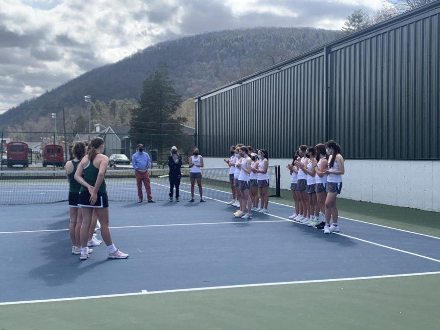 Girls Tennis beats Porter's