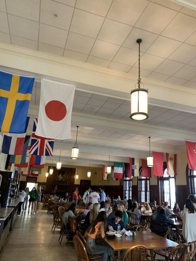 Dining Hall Flags Celebrate our Diversity