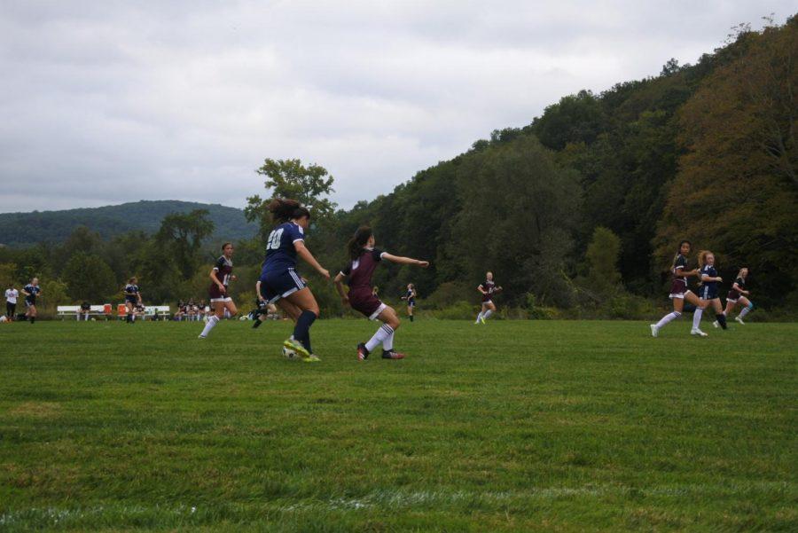 Girls JV soccer takes on IMS